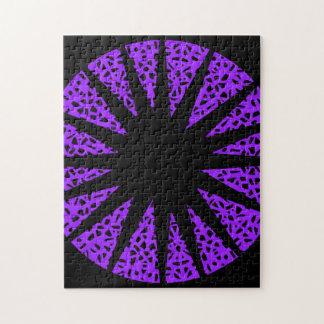 Black star puzzle. jigsaw puzzle
