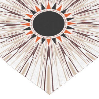 Black star short table runner