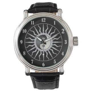 Black Starburst Yin Yang Watch