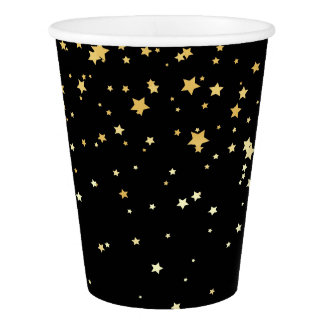Black Starfall Party Cup Paper Cup
