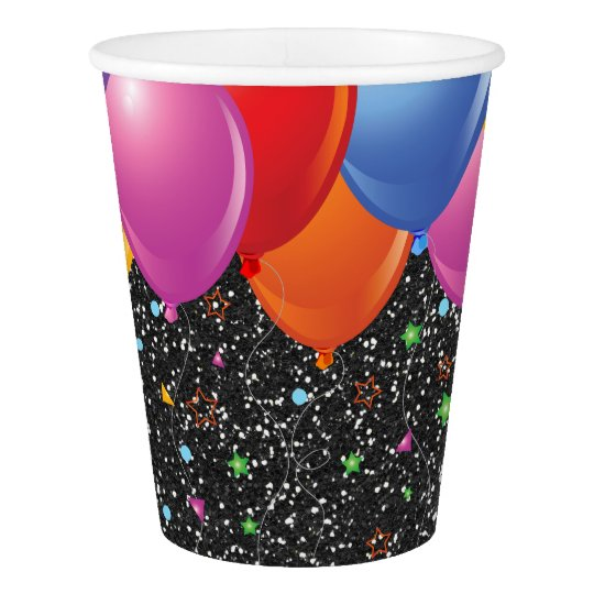 Black Starry Glitter Image Party Paper Cups Paper Cup