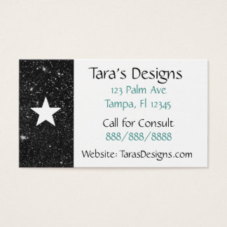 Black Starry Night Business Cards