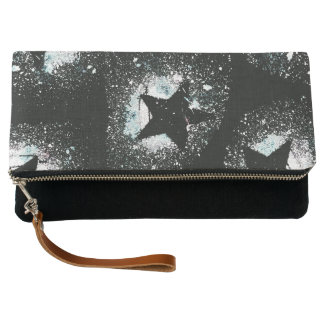 Black Stars Clutch Bag
