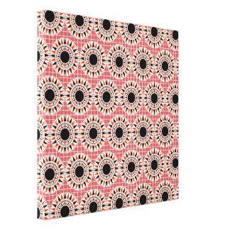 Black stars pattern canvas print