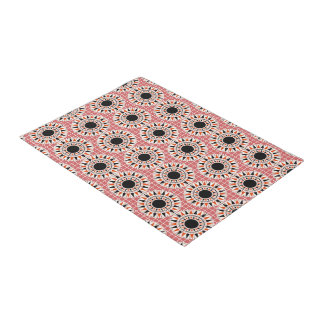 Black stars pattern doormat
