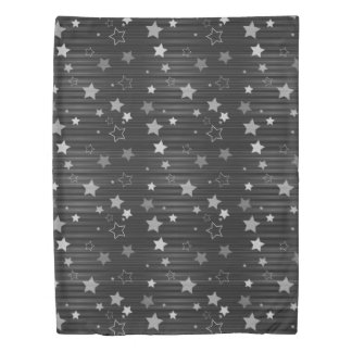Black Stars Pattern Duvet Cover