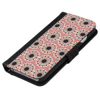 Black stars pattern iPhone 6 wallet case