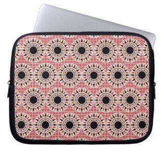 Black stars pattern laptop sleeve