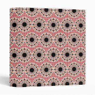 Black stars pattern vinyl binder