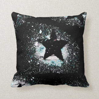 Black Stars Throw Pillow