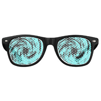 Black Stars Twister Retro Sunglasses