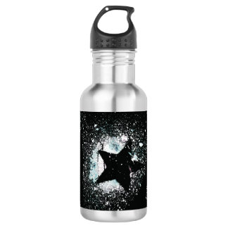 Black Stars Water Bottle