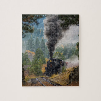 Black Steam Engine Jigsaw Puzzle