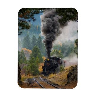 Black Steam Engine Magnet