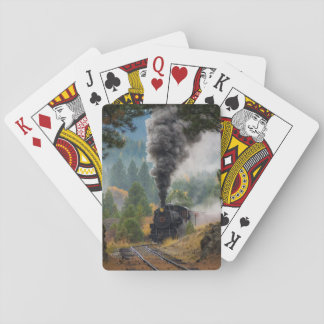 Black Steam Engine Playing Cards