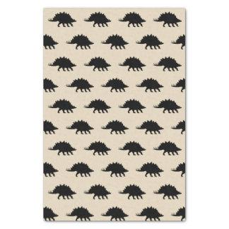 Black Stegosaurus Dinosaurs Print Tissue Paper