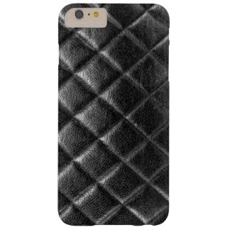 Black stitched leather bag quilted cc caviar barely there iPhone 6 plus case