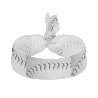 Black Stitches Baseball / Softball Hair Tie