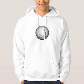 Black Stitching Baseball / Softball Hoodie