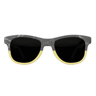Black stone & Citron Yellow Statement Sunglasses