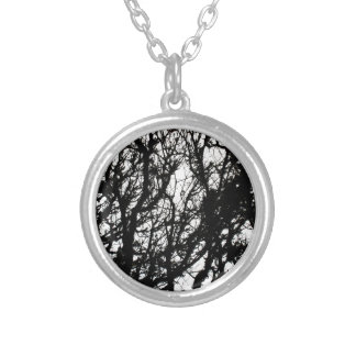 Black Stone Rustic Rigid Tough Wall Art Fashion Na Silver Plated Necklace