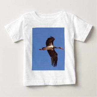 Black stork (Ciconia nigra) in flight Baby T-Shirt