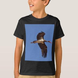Black stork (Ciconia nigra) in flight T-Shirt