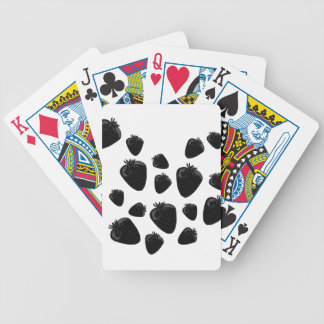 Black strawberries bicycle playing cards
