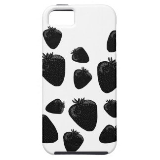 Black strawberries iPhone 5 case