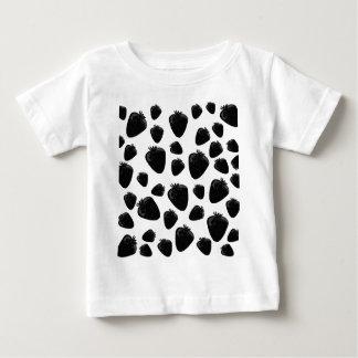 Black strawberries  pattern baby T-Shirt