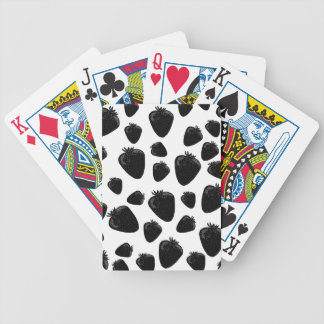 Black strawberries  pattern poker deck