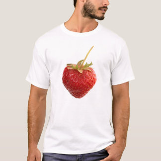Black Strawberry Shirt with a big red Strawberry
