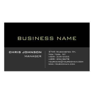 Black Stripe Gray Background Manager Business Card