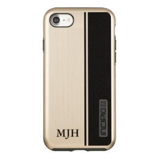 Black Stripe Monogram Incipio DualPro Shine iPhone 8/7 Case