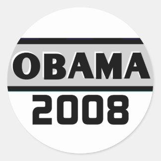 Black Stripe Obama Gray 08 Sticker