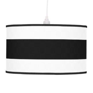 Black Stripe on White Hanging Pendant Lamp