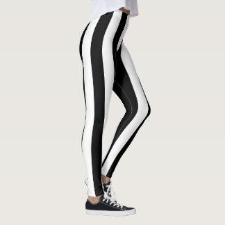 Black Stripe Pattern Leggings