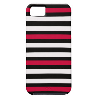 Black Stripe Red White Case For The iPhone 5