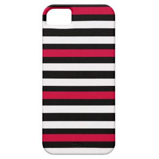 Black Stripe Red White iPhone 5 Case