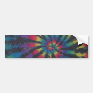 Black Stripe Tie Dye Swirl Sticker