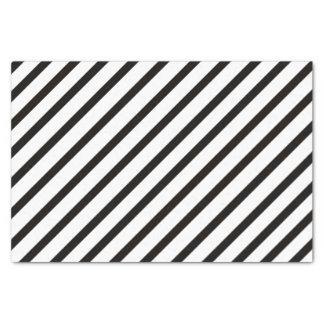 Black Stripe Tissue Paper