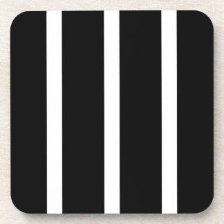 Black Stripe With White Coaster