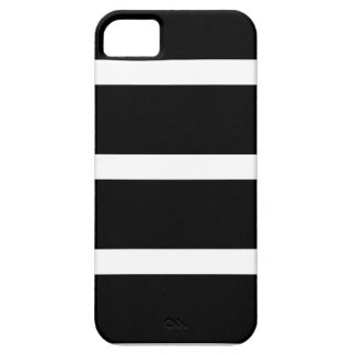 Black Stripe With White iPhone 5 Case