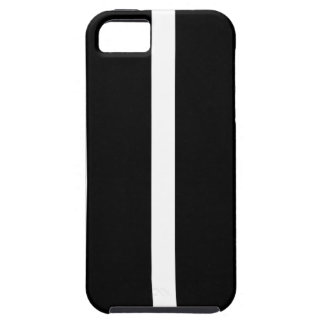 Black Stripe With White iPhone 5 Cover