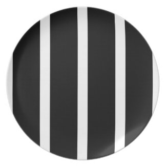 Black Stripe With White Plate