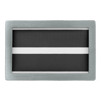 Black Stripe With White Rectangular Belt Buckle