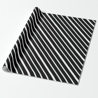 Black Stripe With White Wrapping Paper
