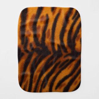 Black Striped Tiger fur or Skin Texture Template Burp Cloths