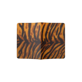 Black Striped Tiger fur or Skin Texture Template Passport Holder