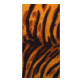 Black Striped Tiger fur or Skin Texture Template Photo Card Template